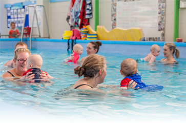 BABY'S FIRST SWIM CLASS!!! - YouTube